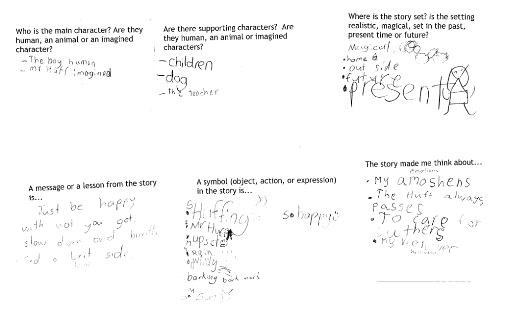 Mr Huff by Anna Walker Small group responses to questions.